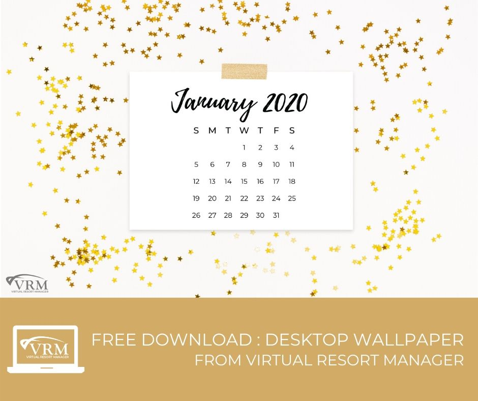 free downloadable january 2020 desktop calendar wallpaper | Virtual Resort Manger