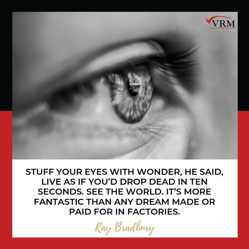 Best Travel Quotes | Stuff your eyes with wonder, he said, live as if you'd drop dead in ten seconds. See the world. It's more fantastic than any dream made or paid for in factories.  Ray Bradbury